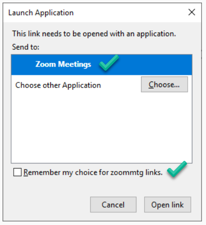 launch Zoom app