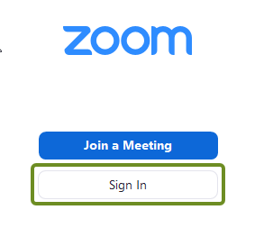 First sign-in to Zoom popup