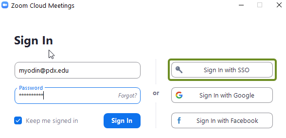 Sign-in to Zoom popup 2